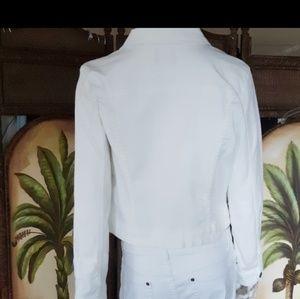 Elle Jackets & Coats - Elle White Jean jacket EUC